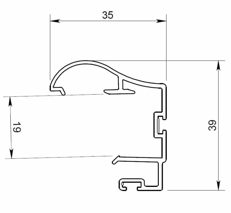 Poignée P300-19 plan