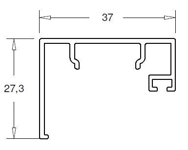Parclose finition Cloison V70 plan
