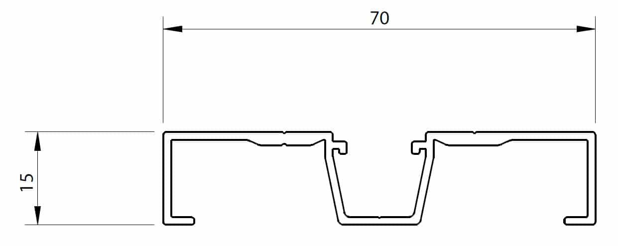 Dimensions Compensateur de plinthe 70