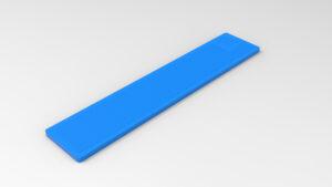 Cale 2 mm bleue